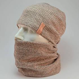 """Комплект """"Николь"""" шапка+баф"""