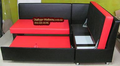 Уголок для кухни черно-красный, фото 2