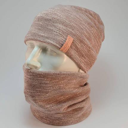 "Комплект ""Джерси"" шапка+баф, фото 2"