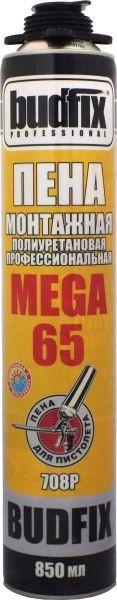 Пена монтажная профессиональная Budfix 708P Mega 65, 850 мл