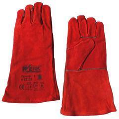 Перчатки замшевые (краги) красные  Werk WE2128