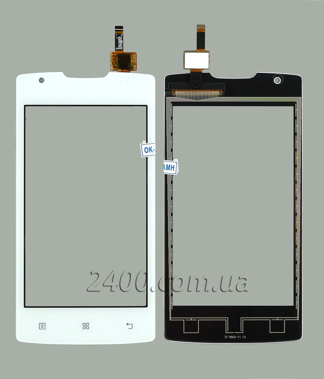 Тачскрин (сенсор) для телефона Lenovo A1000 белый