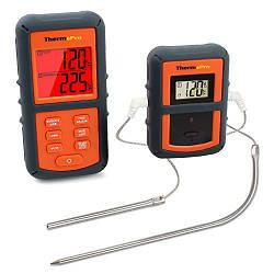 Беспроводной двухканальный термометр (до 100 м) ThermoPro TP-08S (0-300 °С) в прорезиненном корпусе (mdr_0110)