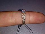 Кольцо из серебра 925 пробы, серебряное кольцо 16.5-17 размер, фото 3