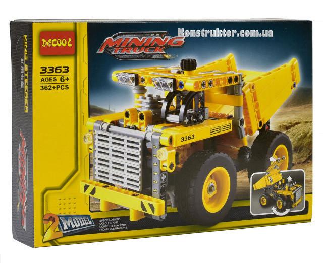 """Конструктор Decool 3363 """"Карьерный грузовик"""" 362 детали. Аналог Lego Technic 42035"""