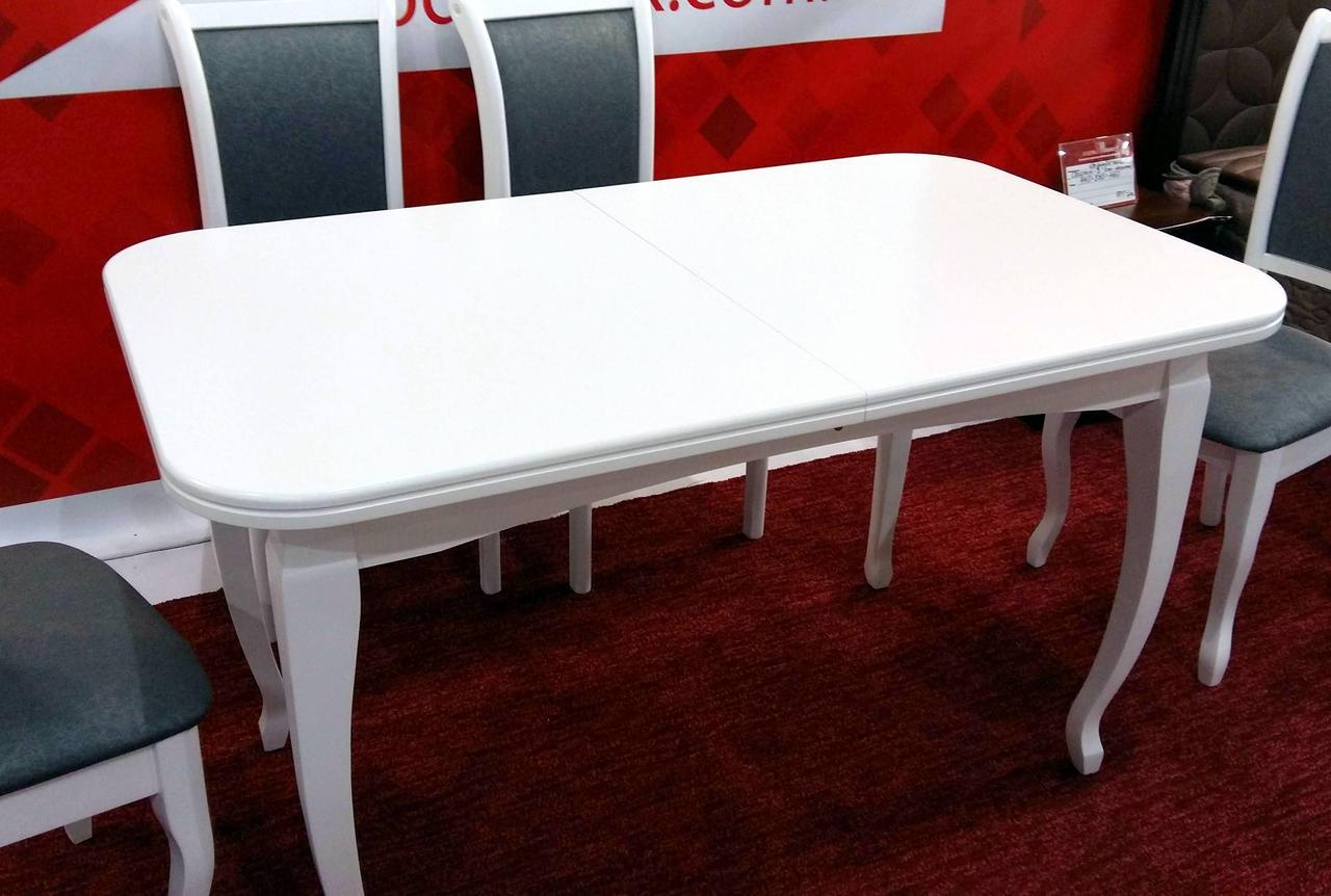 Стол обеденный белого цвета  Соренто Модуль Люкс
