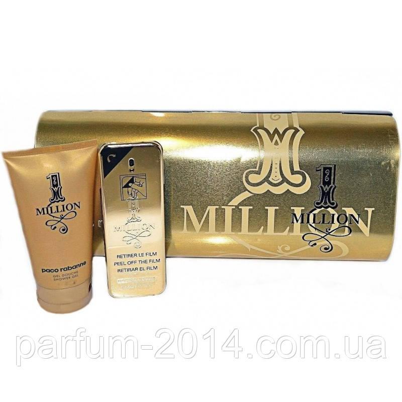 Набор Paco Rabanne 1 Million парфюм 100 мл + гель для душа в железном футляре (реплика)