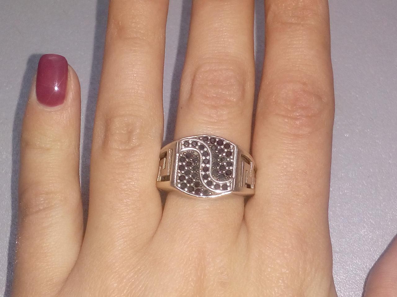 Черный оникс кольцо из серебра 925 пробы, серебряный мужской перстень печатка с ониксом 20.5-21 размер