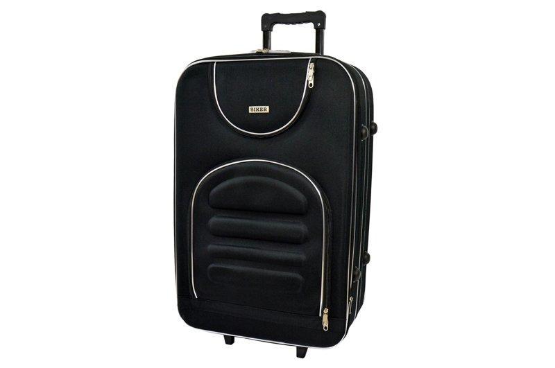 Дорожній валізу на колесах Siker Lux Великий Чорний