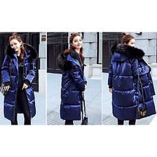 Куртка длинная синяя - Размер XL - Код-  221-09, фото 2