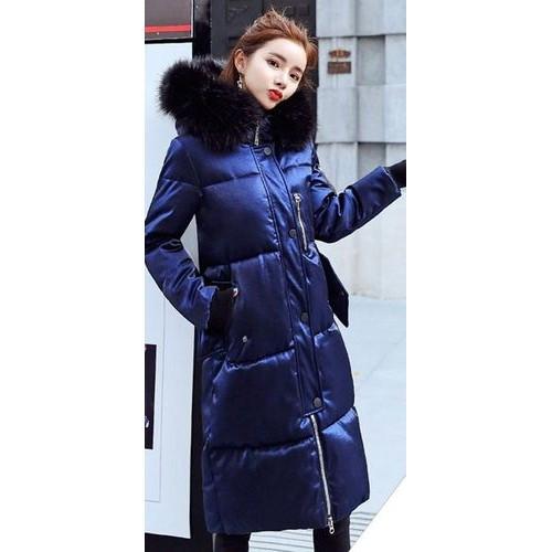 Куртка длинная синяя - Размер XL - Код-  221-09