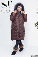 Зимові пальто жіноче дуже тепле з 50 по 60 розмір, фото 7