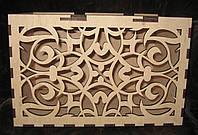 Деревянная коробка  резная - копилка, казна, фото 1