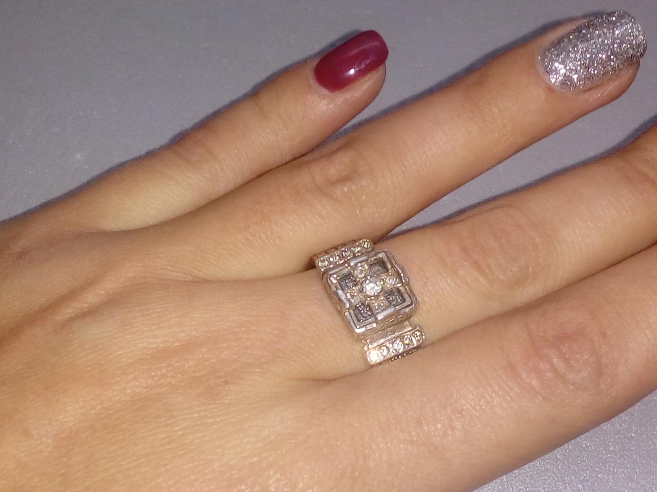 Кольцо из серебра 925 пробы, серебряное кольцо 20 размер