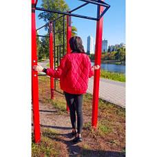 Куртка короткая красная стёганная Размер L - Код - 221-04, фото 3