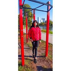 Куртка короткая красная стёганная Размер L - Код - 221-04, фото 2