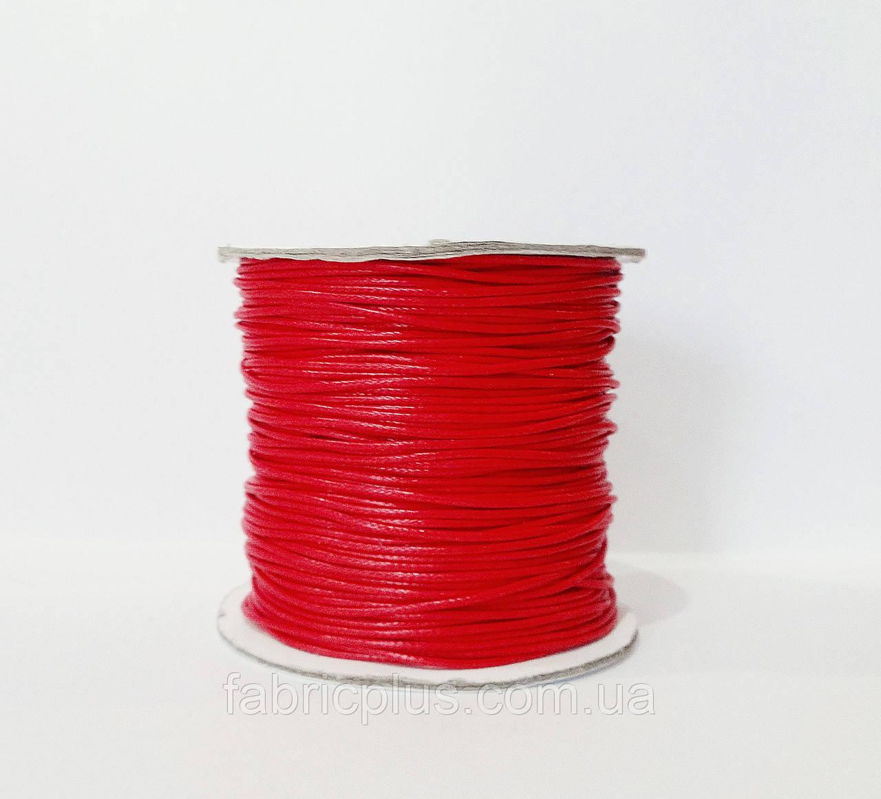 Шнур вощеный 1,0 мм для шамболы, красный