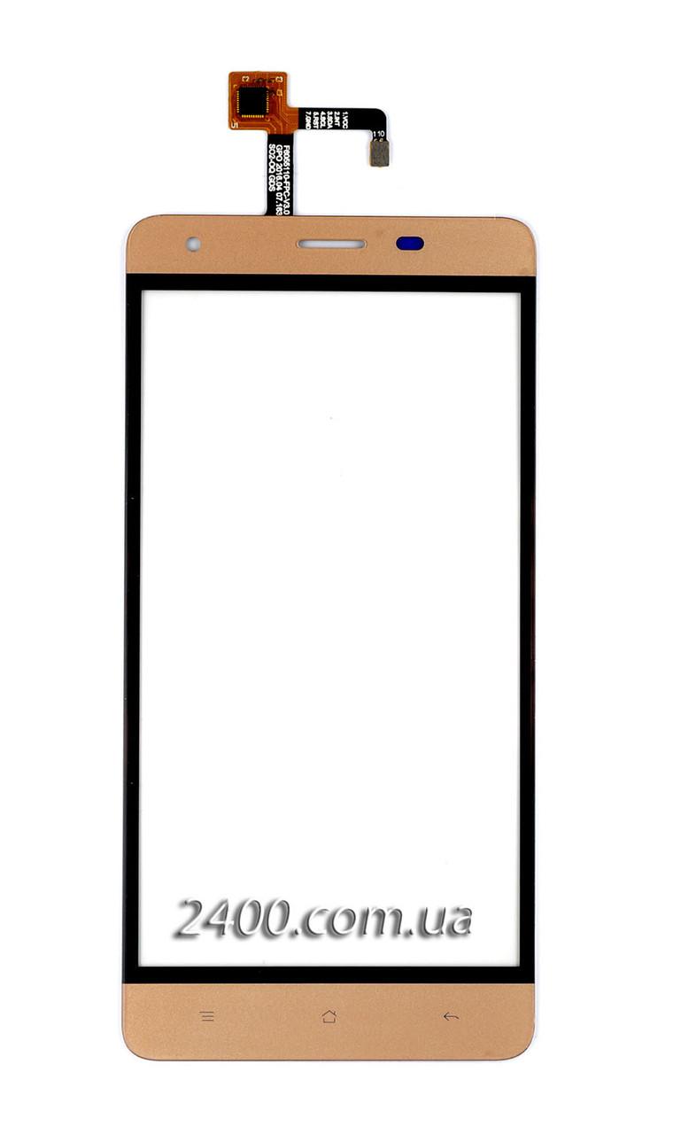 Тачскрин (сенсор) для телефона Oukitel K6000 Pro золотой
