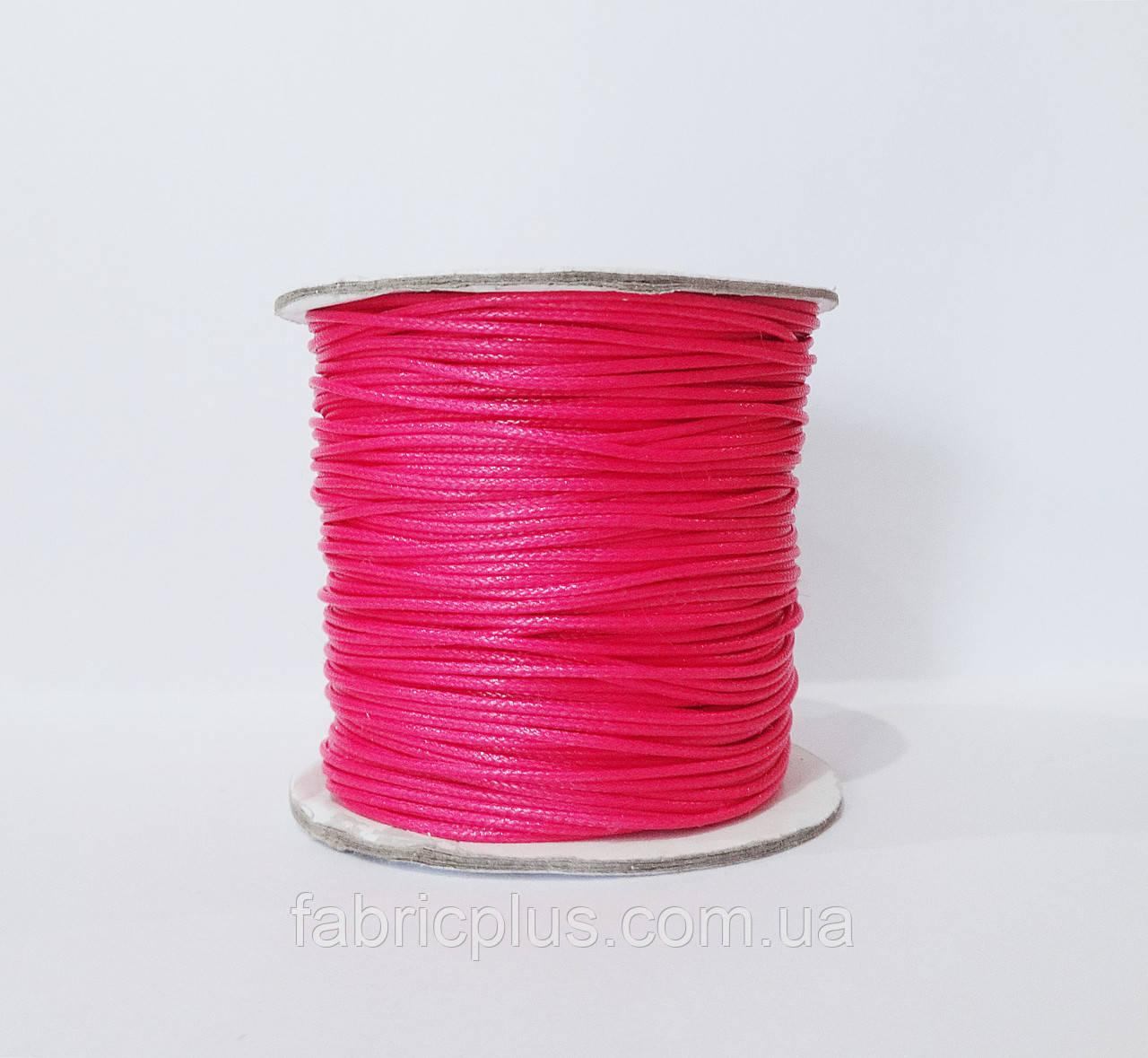 Шнур вощеный 1,5 мм для шамболы, ярко-розовый