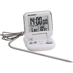 Термометр для мяса DET-3T (0...+200 °C) с таймером и магнитом Voltcraft (mdr_1032)
