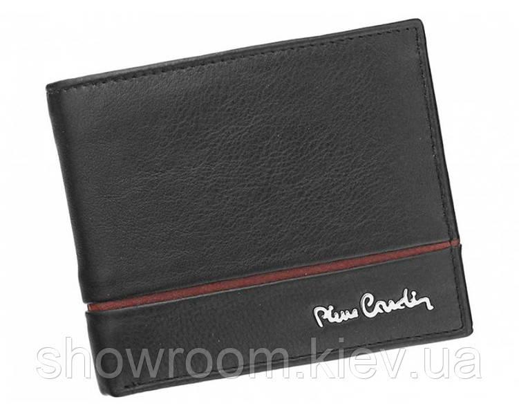 Портмоне мужское Pierre Cardin (824 RFID) кожаное черное оригинал