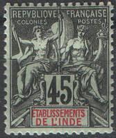 Французская Индия 1907 45с
