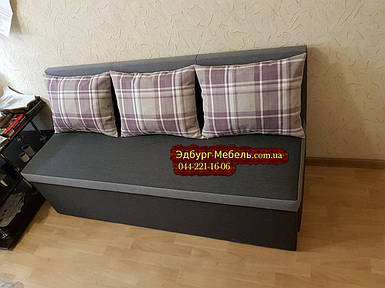 Диван для вузької і довгої кімнати з ящиком + спальним місцем 1600х600х850мм