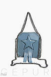 Небольшая серая сумочка с декором и бахромой, фото 2
