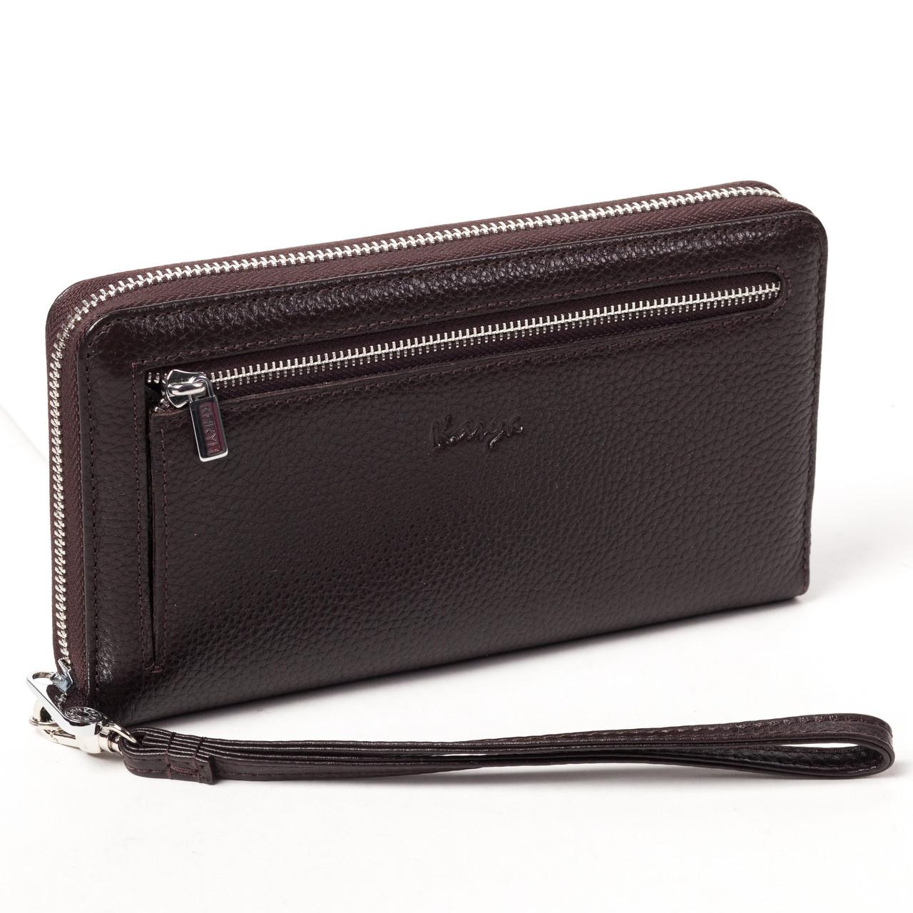Клатч-кошелек Karya 0706-39 мужской кожаный коричневый
