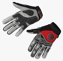 Перчатки EXUSTAR CG510 серый/красный/черный L