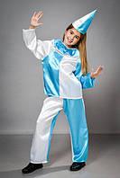 Маскарадный костюм из атласа для детей от трех лет Петрушка