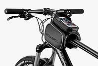 Велосипедная сумка на раму с боками RockBros с козырьком  ( под смартфон до 6.2 дюймов ), фото 1