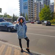 Парка джинсовая на подкладке из искусственного меха - 219-01, фото 2