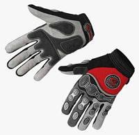 Перчатки EXUSTAR CG510 серый/красный/черный S