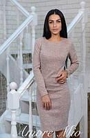 Платье миди теплое, ткань ангора. Размеры норма:42, 44, 46, 48 . Разные цвета