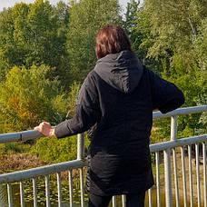 Куртка чёрная с капюшоном - 218-02, фото 3