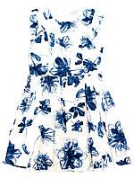 Платье для девочки-подростка 131-24G-13-200 Бело-Голубое