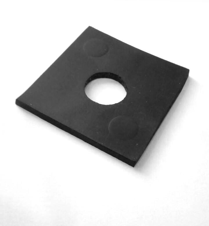ODF-11-10-07 прокладка для стеклодержателя резиновая квадратная 38х38
