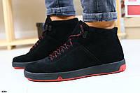 Ботинки мужские замшевые, зимние,  на шнурках
