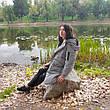 Куртка серая средней длины - 218-01, фото 3
