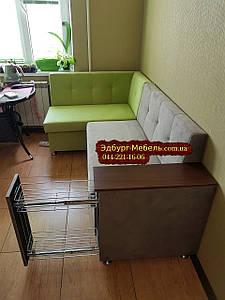 Кухонный уголок раскладной с баром в подлоке