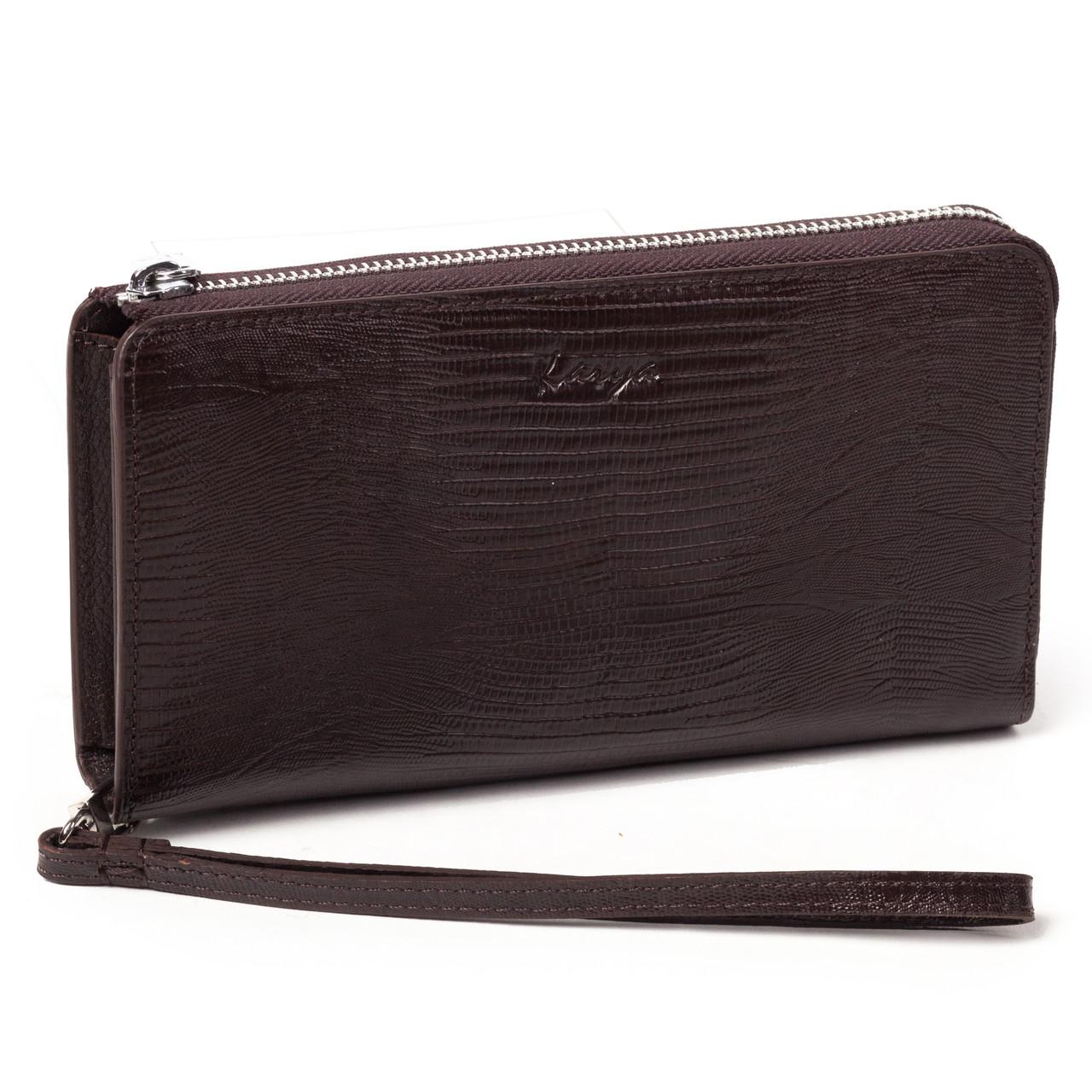 Клатч-кошелек Karya 0709-077 мужской кожаный коричневый