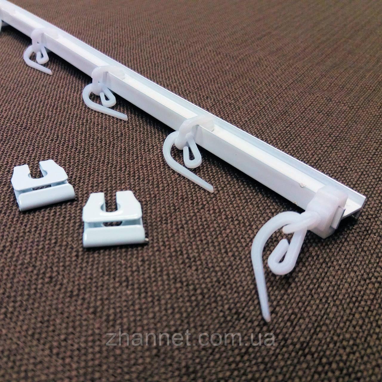 Карниз потолочный самогнущийся T-профиль алюминиевый белый (670108)