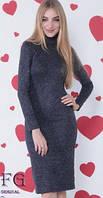 Платье-гольф миди теплое, ткань ангора. Размеры норма:42, 44, 46, 48 . Разные цвета
