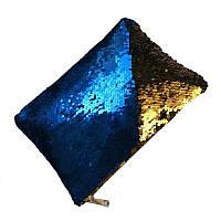Клатч меняющий цвет синий-золото