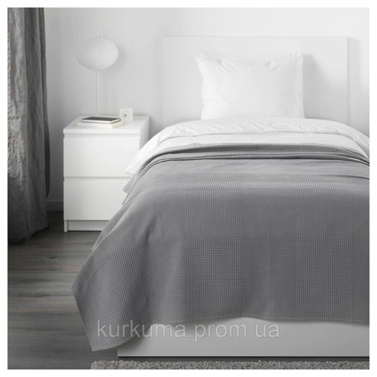 IKEA INDIRA Покрывало, серый  (003.890.72)