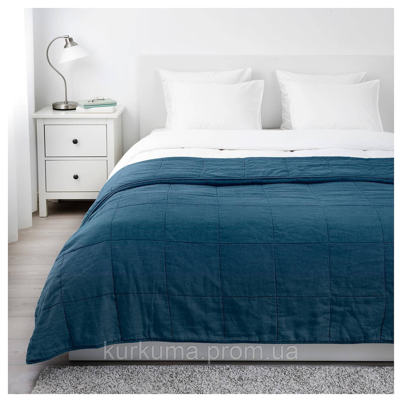 IKEA GULVED Покрывало, темно-синий  (503.929.01)