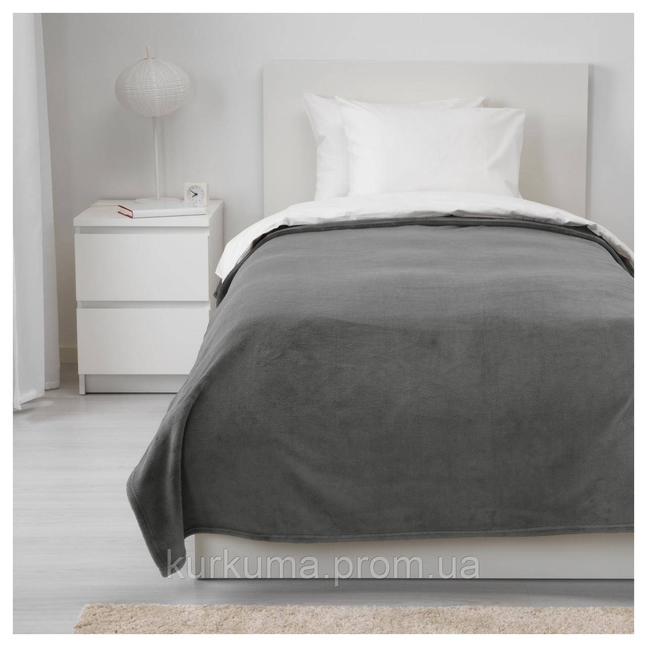 IKEA TRATTVIVA Покрывало, серый  (303.496.78)