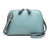 Женская наплечная кожаная сумка Namvitae небесно-голубая