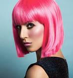 Парик каре ярко-розовый 35 см., фото 4